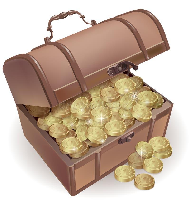 Borst met muntstukken royalty-vrije illustratie