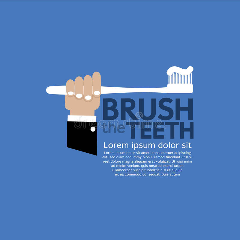 Borsta för tänder. vektor illustrationer