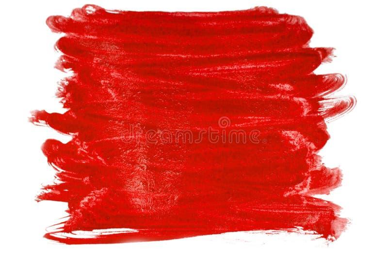 Borsta slaglängden av röd målarfärg royaltyfria bilder