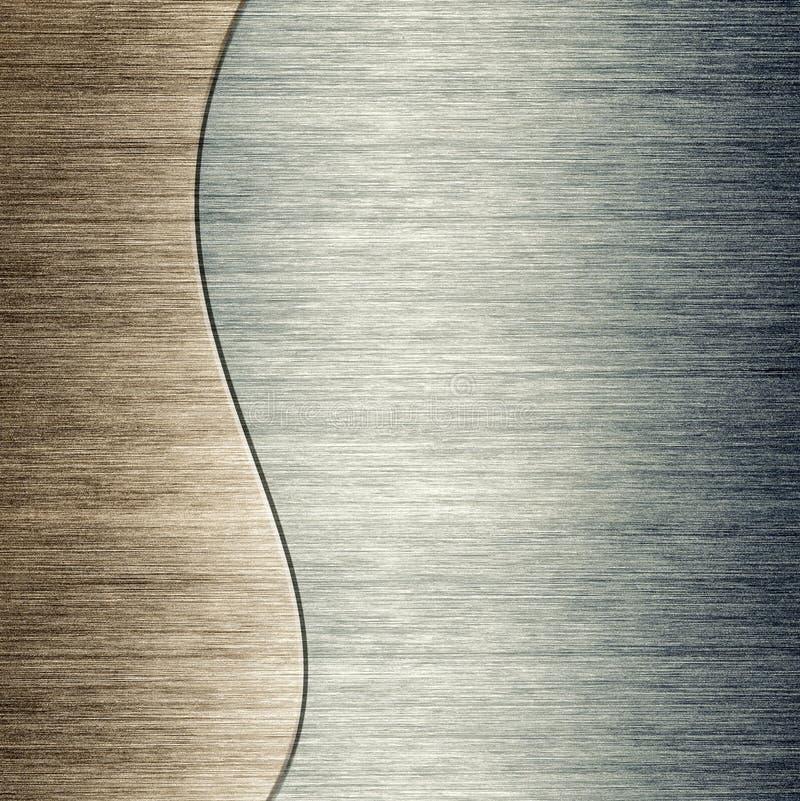 Borstad bakgrund för mall för metallplatta stock illustrationer