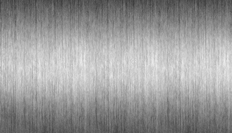 Borstad bakgrund för mall för metallplatta arkivbilder