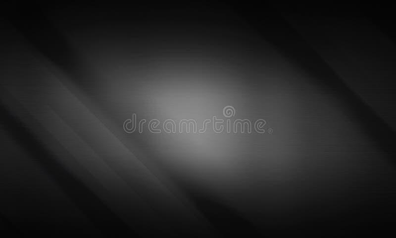 Borstad bakgrund för metalltexturmörker stock illustrationer