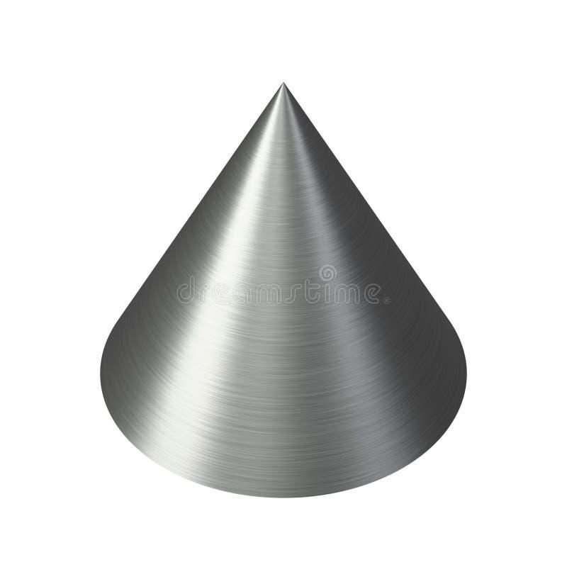 borstad blank silver för kottemetall royaltyfri illustrationer