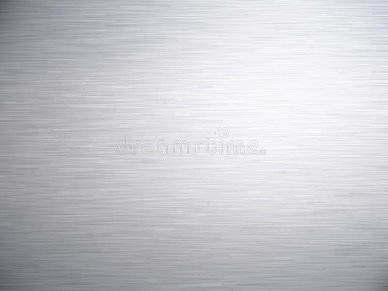 Borstad för metallbakgrund för stål Aluminium textur royaltyfri fotografi