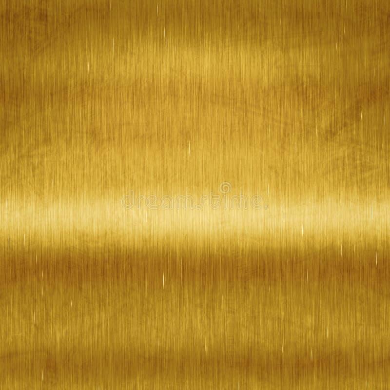 Borstad guld royaltyfri illustrationer