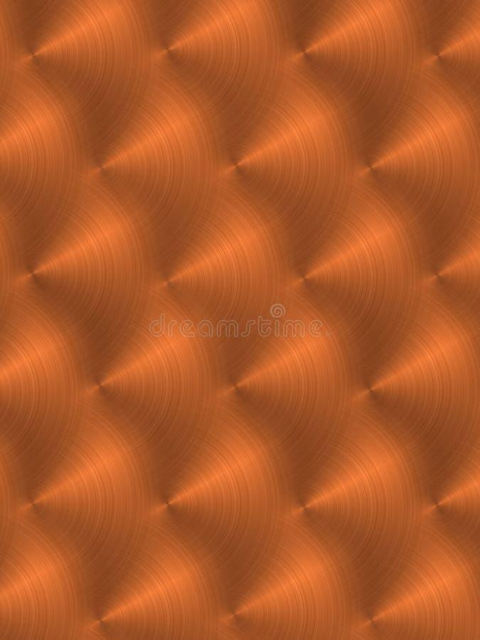 borstad koppar vektor illustrationer