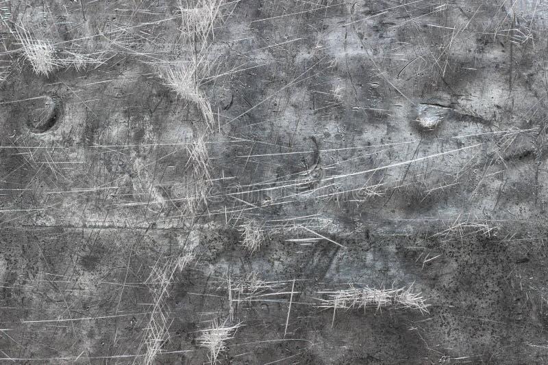 Borstad metallbakgrund, textur av det polerade järnarket eller stai royaltyfria bilder