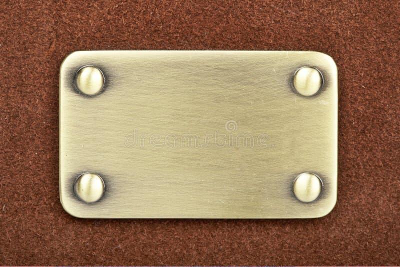 borstad metallpanel arkivfoto