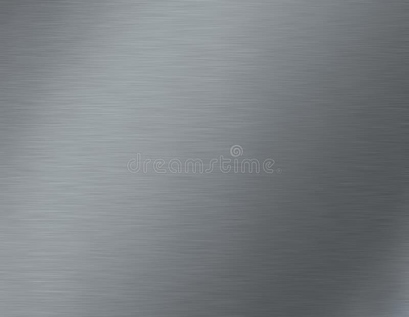 borstad metalltextur stock illustrationer