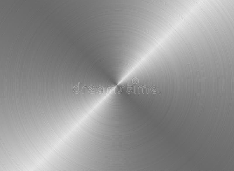 borstad metalltextur arkivbilder