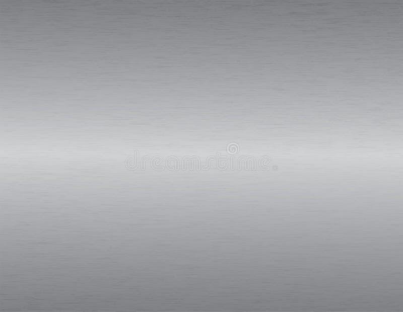 borstad metalltextur vektor illustrationer