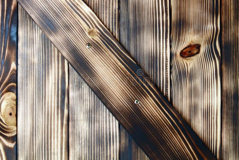 Borstad och encaustic grov märkes- ädelträdörrtextur - underbar abstrakt fotobakgrund arkivbilder