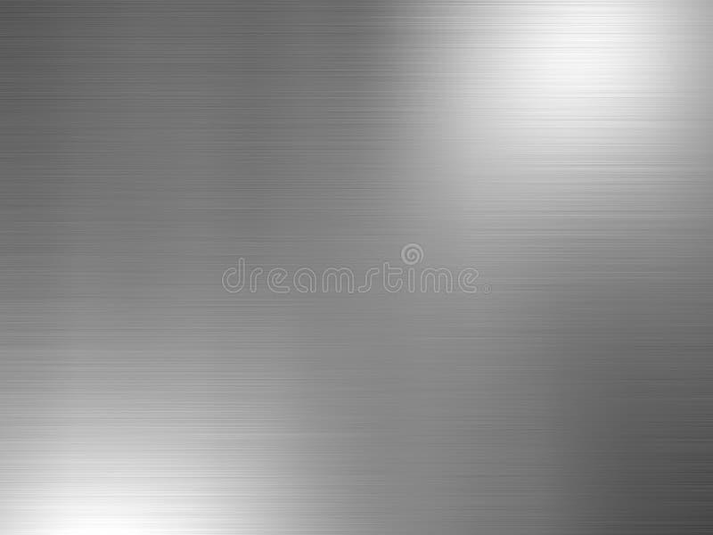 Borstat aluminium arkivfoto