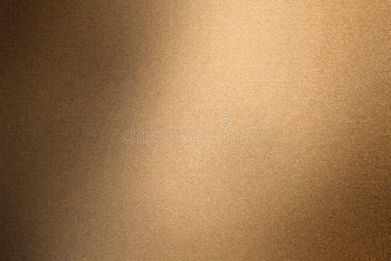 Borstat brons metallväggyttersida, abstrakt texturbakgrund royaltyfri illustrationer