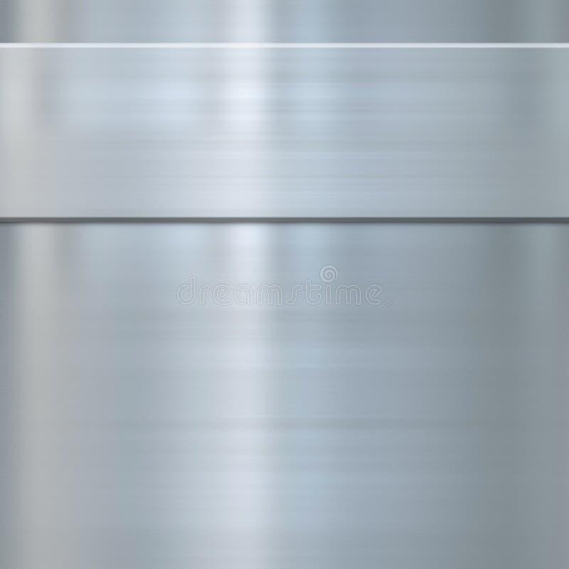 borstat fint metallstål royaltyfri illustrationer