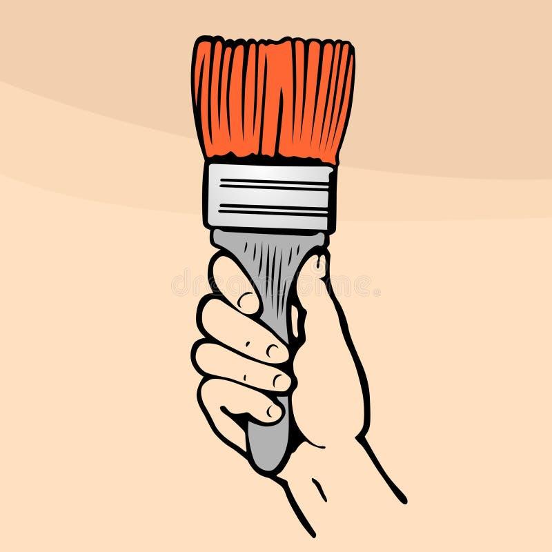 borste stock illustrationer