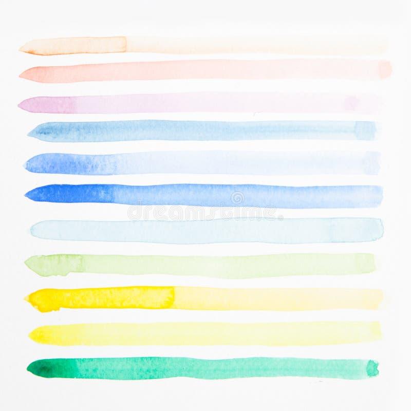 Borste för prov för vattenfärg stock illustrationer