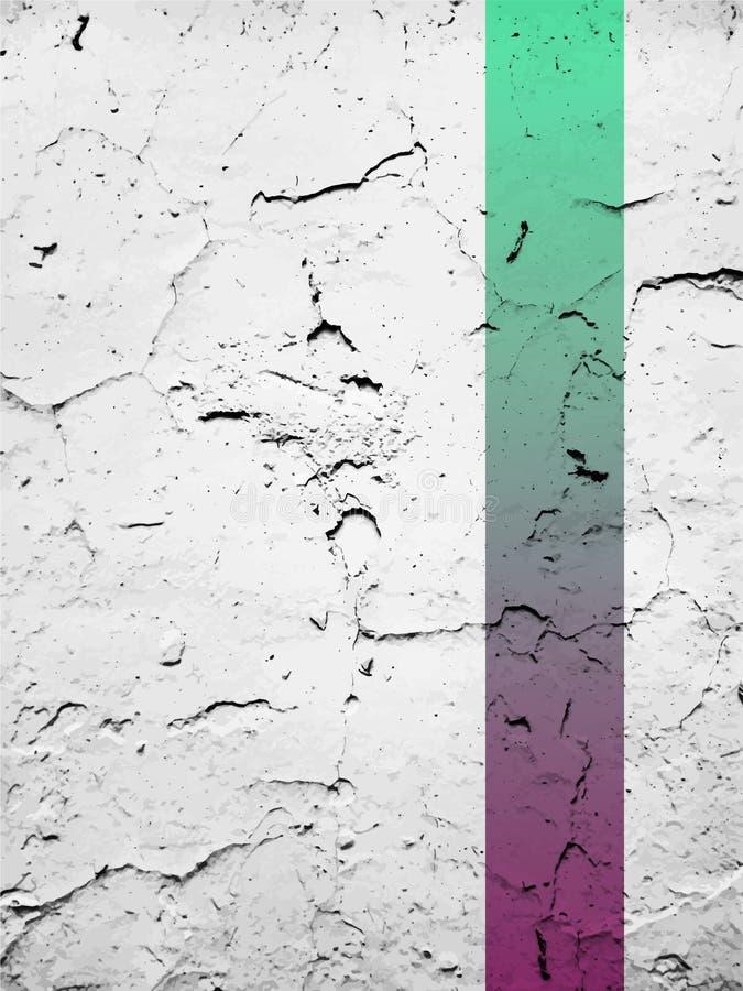 Borste för vektor för textur för Grungemurbruksprickor Gråton Multiplicera färgfunktionsläget royaltyfri illustrationer