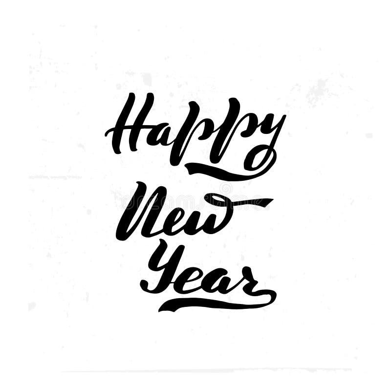 Borstehand för lyckligt nytt år royaltyfri illustrationer
