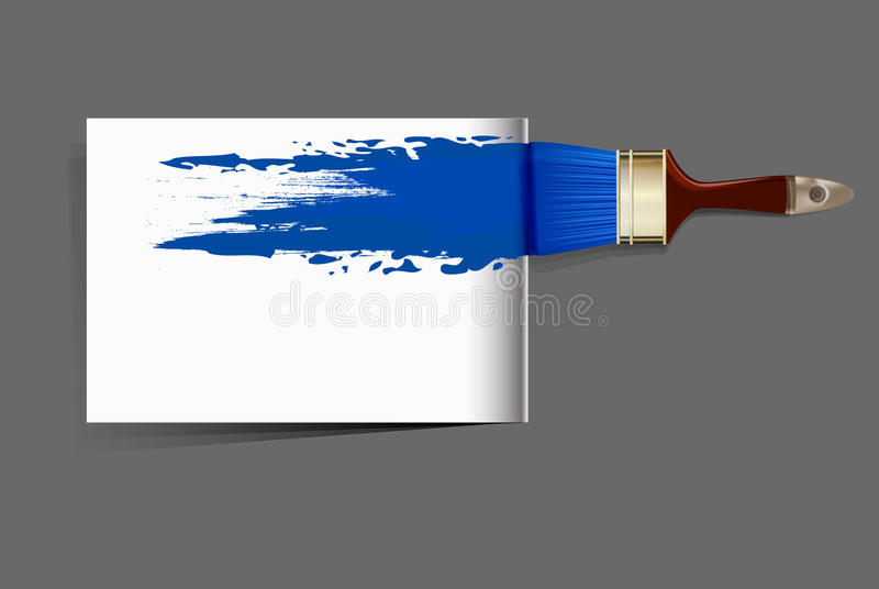 borstel die het blauw trekt stock illustratie