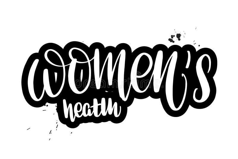 Borstel het van letters voorzien de gezondheid van vrouwen vector illustratie