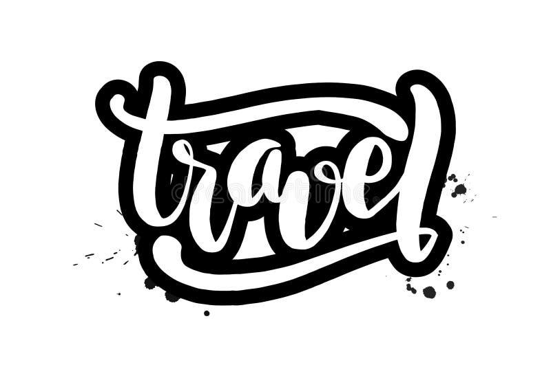 Borstel het van letters voorzien reis royalty-vrije illustratie