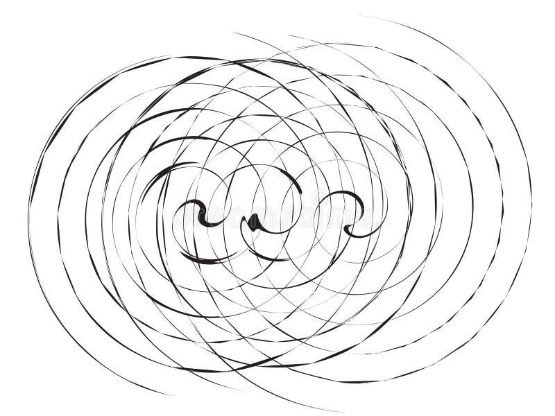 Borstel Spiraalvormige Abstracte Achtergrond royalty-vrije illustratie