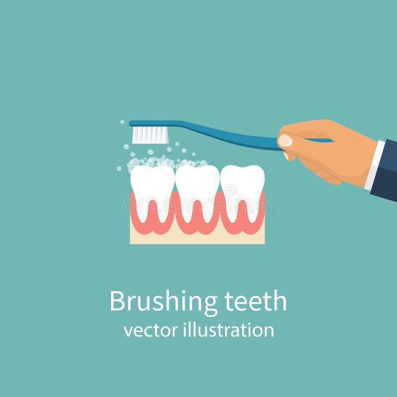 Borstelende Tanden Vector vector illustratie