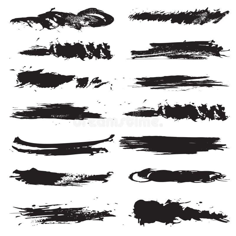 borstelinje royaltyfri illustrationer