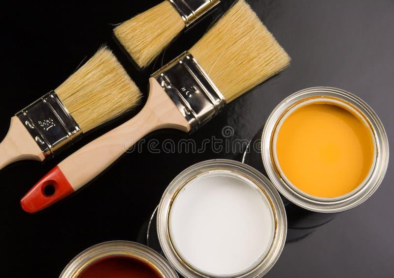 borstemålarfärg arkivfoto