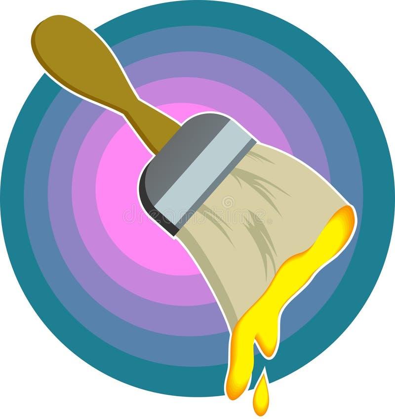 borstemålarfärg stock illustrationer