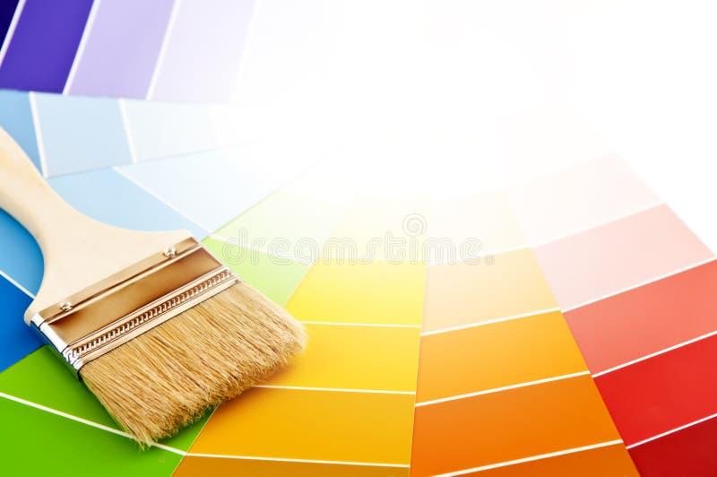 borsten cards färgmålarfärg royaltyfri bild