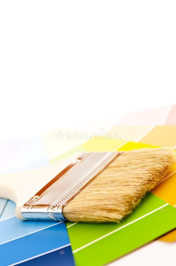 borsten cards färgmålarfärg royaltyfria bilder