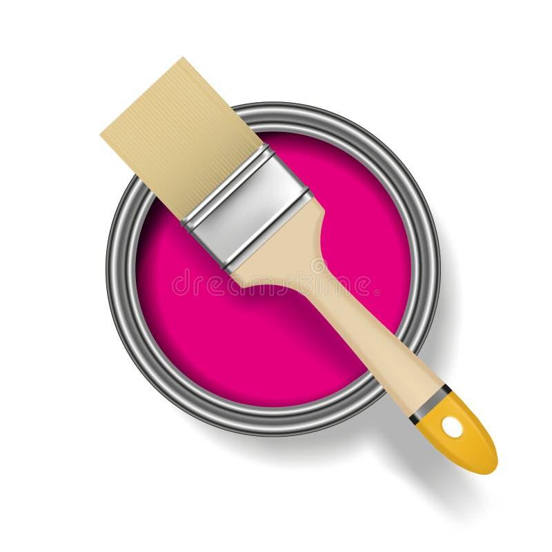 borsten kan måla stock illustrationer