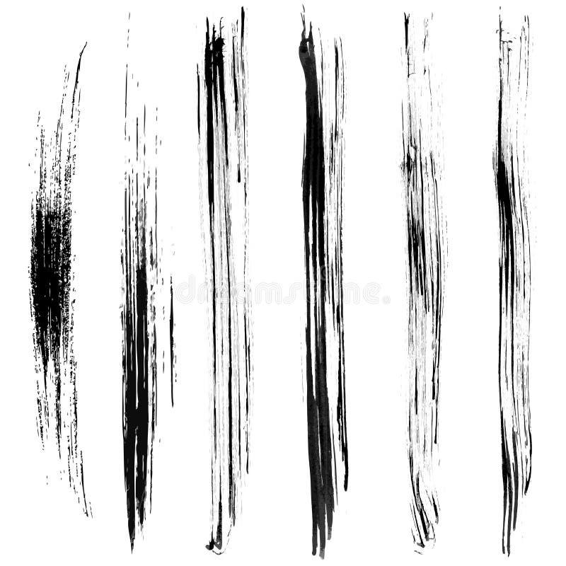 Borsteslaglängd vektor illustrationer