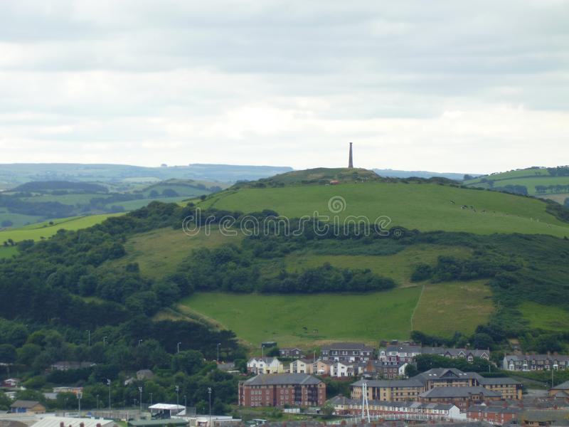 Borth veiw. Statue wales landscape royalty free stock images