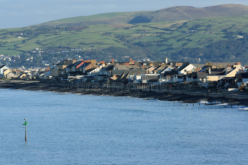Borth view. A view of the seaside town of Borth located on the coast of Wales royalty free stock photos