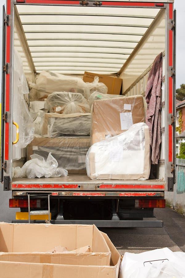 Borttagningar skåpbil eller lastbil arkivbilder