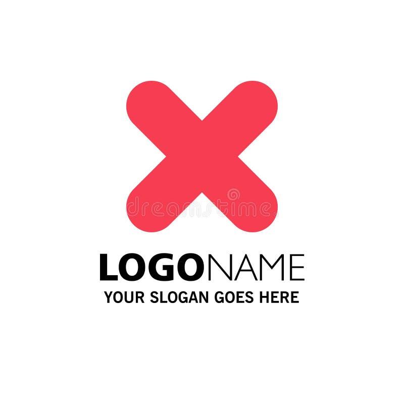 Borttagnings annullering, slut, arg affär Logo Template plan f?rg vektor illustrationer