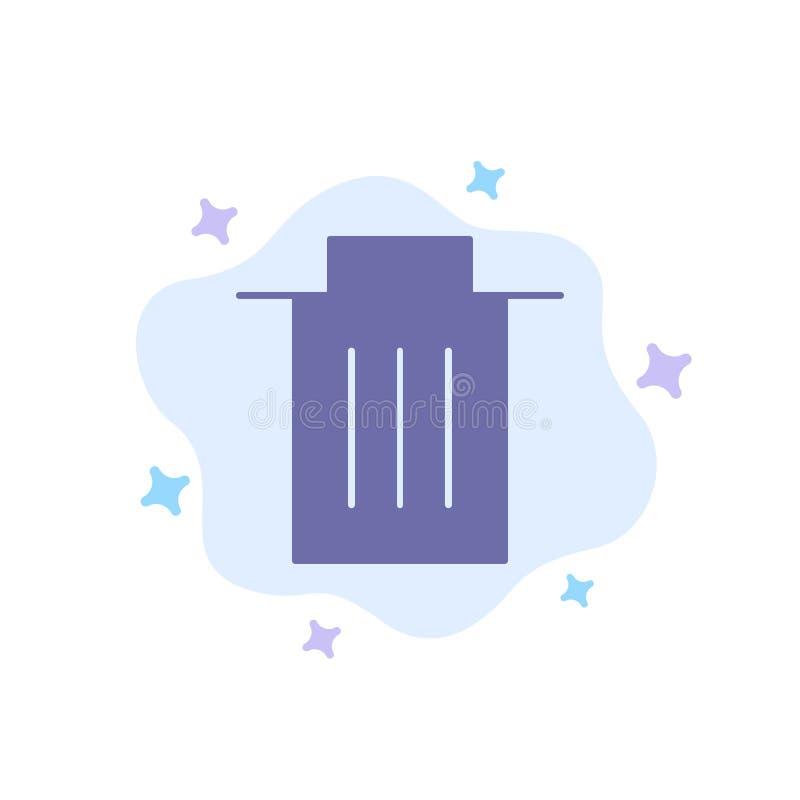 Borttagnings manöverenhet, avfall, blå symbol för användare på abstrakt molnbakgrund royaltyfri illustrationer