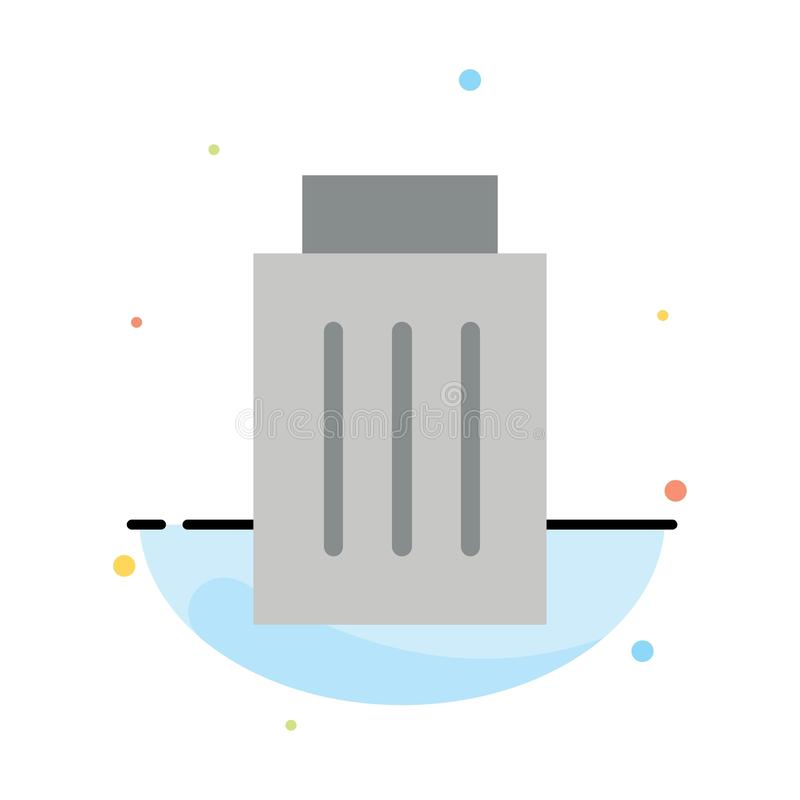 Borttagnings manöverenhet, avfall, för färgsymbol för användare abstrakt plan mall stock illustrationer