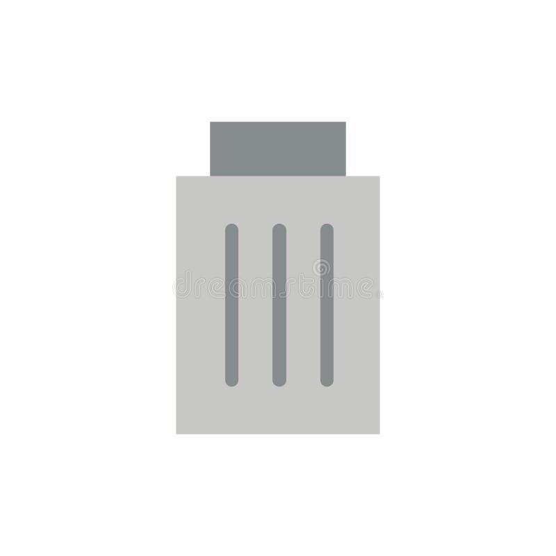 Borttagnings manöverenhet, avfall, plan färgsymbol för användare Mall för vektorsymbolsbaner royaltyfri illustrationer