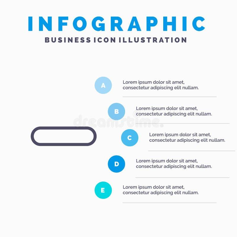 Borttagnings mindre, negativ, tar bort linjen symbol med för presentationsinfographicsen för 5 moment bakgrund royaltyfri illustrationer