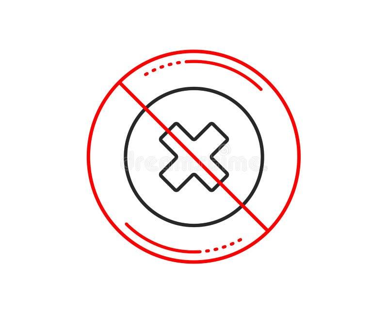 Borttagningslinje symbol Ta bort tecknet vektor royaltyfri illustrationer