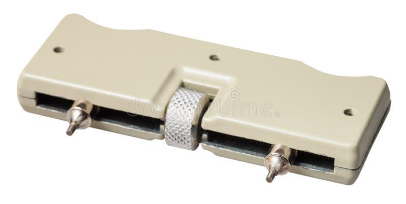 Borttagningsmedel för justerbar skiftnyckel för öppnande armbandsur royaltyfria foton