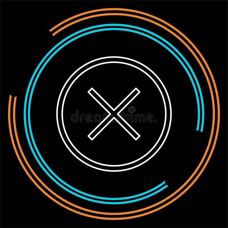 Borttagningssymbol - inget tecken, nära symbolvektor, annullering stock illustrationer