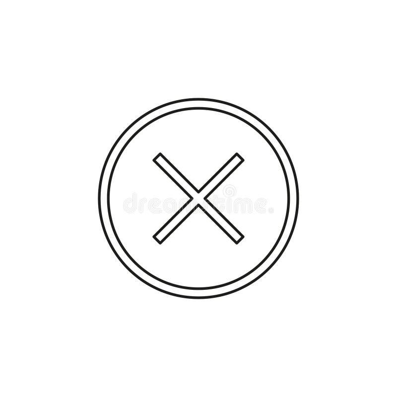 Borttagningssymbol - inget tecken, n?ra symbolvektor, annullering vektor illustrationer