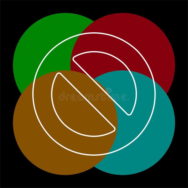Borttagningssymbol - inget tecken, n?ra symbolvektor vektor illustrationer