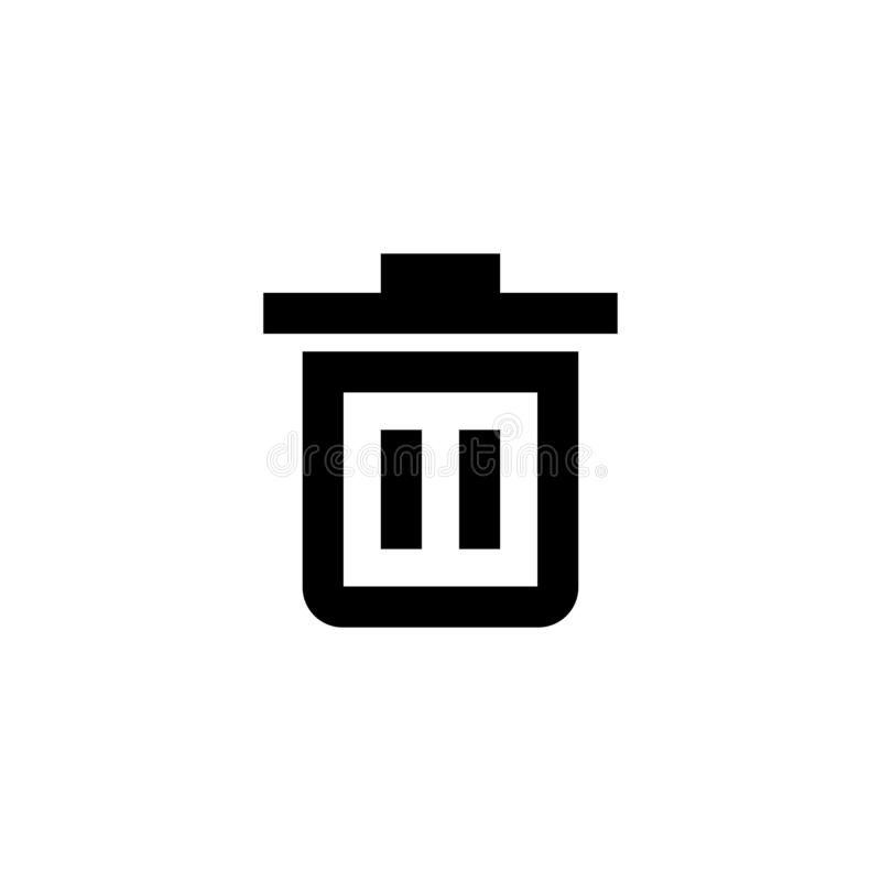 Borttagningssymbol Mappavfalltecken stock illustrationer
