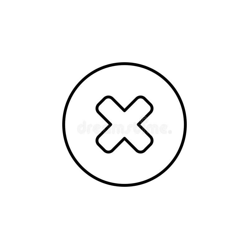 Borttagningstecken, linje symbol royaltyfri illustrationer